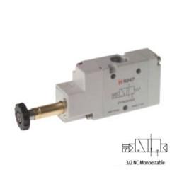 ELECTROVÁLVULA MONOESTABLE RETORNO NEUMÁTICO 3/2 VÍAS REF. 01V S4 3 NC AIGNEP