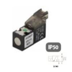 ELECTROPILOTO MINIATURIZADO PARA CONECTORES EN LINEA + LED 3/2 VÍAS REF. 07V 113 NO AIGNEP
