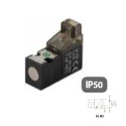 ELECTROPILOTO MINIATURIZADO PARA CONECTORES A 90° + LED 3/2 VÍAS REF. 07V 12 3 NO AIGNEP